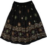 Country Fair Black Sequin Skirt