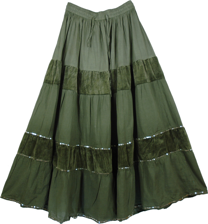 Long Green Skirt - Dress Ala