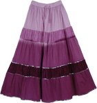 Vintage Velvet Purple Skirt with Sequins
