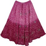 Tapestry Boho Fashion Mirrors Skirt 33L