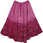 Tapestry Boho Fashion Mirrors Skirt 33L
