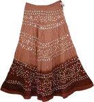 Matrix Brown Tie Dye Skirt