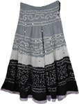 Oslo Gray White Black Tie Dye Skirt