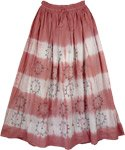 Decorated Rust Bohemian Long Skirt