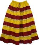 Gypsy Boho Panel Festival Long Skirt