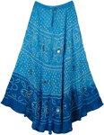 Blue Belle Mirror Blue Long Skirt 37L