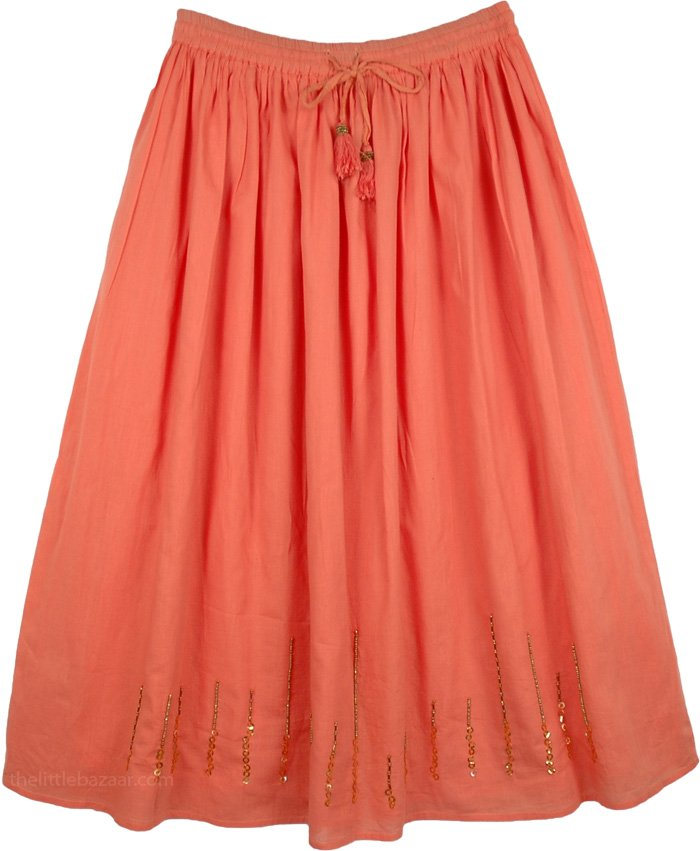 Persimmon Sequin Full Petticoat Skirt