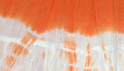 Orange Flame Crinkled Summer Short Skirt