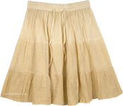 Almond Sapling Cotton Mini Skirt with Tinsel