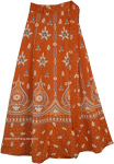 Tia Maria Block Printed Long Wrap Skirt
