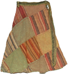 Patchwork Stylish Short Wrap Around Skirt