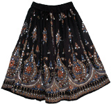 Black Sequin Short Skirt
