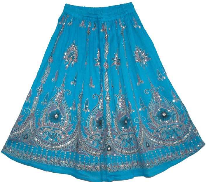 blue sequin skirt skirts
