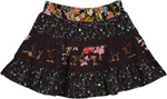 Happy Go Black Short Skirt