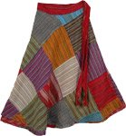 Patchwork Village Wrap Around Skirt [2621]