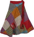 Boho All Season Wrap Around Short Skirt