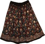Zeus Bohemian Floral Short Skirt