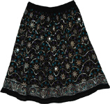 Baltic Sea Bohemian Floral Short Skirt