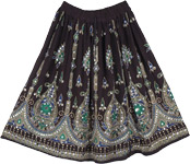 Black Iridescent Short Skirt