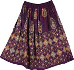 Exotic Old Wine Short Skirt
