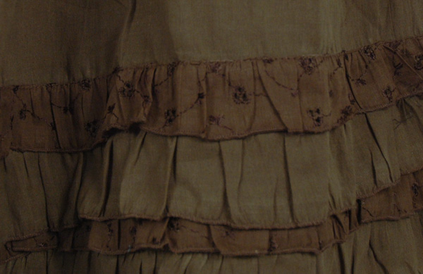 Mehndi Eyelet Frills Skirt