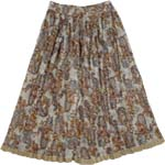 Off White Grey Shimmer Womens Skirt
