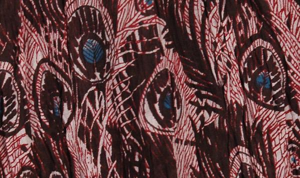 Jon Merlot Boho Crinkled Ladies Short Skirt