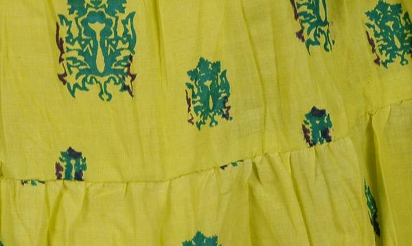 Amazon Yellow Cotton Short Skirt