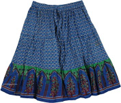 Blue Bay Cotton Short Skirt