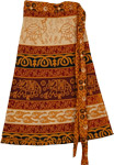 Orange Patterns Short Length Skirt [3465]