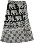 Olifant Black White Wrap Short Skirt