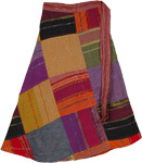 Boho Sparkle Wrap Around Short Skirt