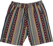 Himalayan Inspired Woven Cotton Boho Shorts [3600]