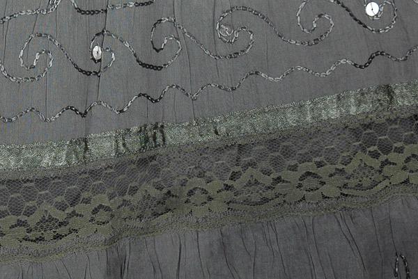 Grey Black Ombre Cotton Skirt