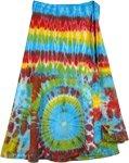 Blue Flares Cotton Wrap Around Short Skirt