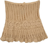 Crochet Short Fitted Skirt [4073]