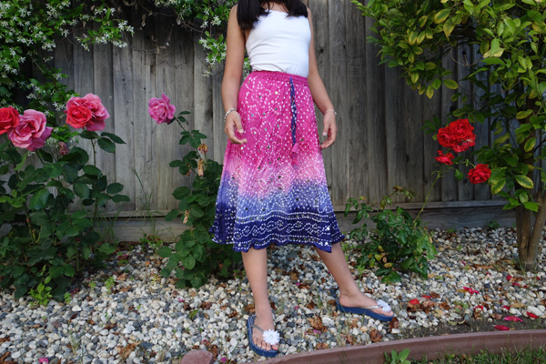 Arabelle Sequined Tie Dye Junior Skirt