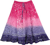 Petite Indian Tie Dye Sequined Skirt [4076]