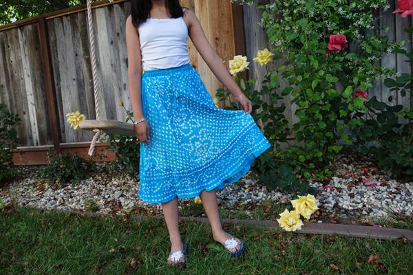 Horizon Blue Petite Tie Dye Skirt