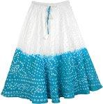 Teal Junior Skirt Tie Dye