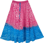 Pink Blue Tie Dye Teen Skirt [4080]