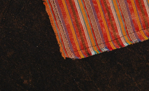 Cocoa Brown Stripes Patchwork Wrapper Skirt