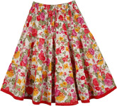 Floral Multicolor Short Summer Skirt [4354]