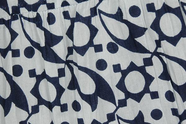 Abstract Steel Gray On White Boho Skirt
