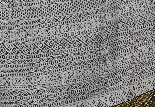 Full Short Skirt with Brocade Ribbon Hem