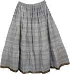 White Black Patterned Skirt [4365]