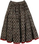 Floral Print Short Womens Summer Skirt [4366]