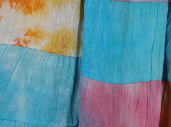 Rainbow Multi Color Patchwork Short Skirt