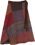 Nepalese Patchwork Bohemian Skirt [4549]