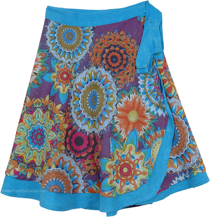 Attara Village Wrap Around Skirt, Lochinvar Ethnic Short Wrap Around Skirt